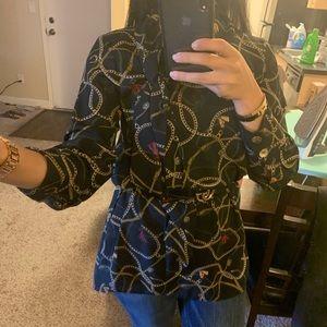 Zara chain tunic blouse